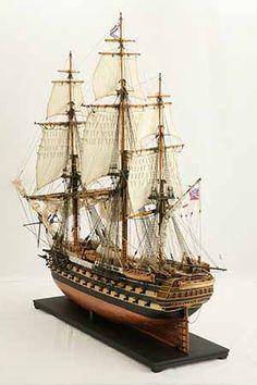 Ship model HMS Wellesley of 1815