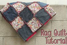 Rag Quilt - different method, two layers only, layers not sewn together before joining the squares.