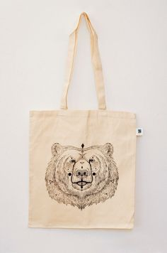 Organic Cotton Tote Bag URSUS neon orange / classic by MOZAIQ