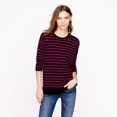My new Merino colorblock stripe sweater using SECRET promo code for Pinterest'ers!