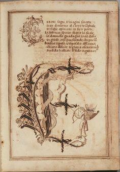 """Letter """"E"""" (1600-15), Antonio Schiratti, 'Opera Dianto Nella Quale Vedrete Molte Caratteri di Lettere' (Perugia, Umbria, Italy)."""