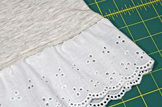 Adding lace trim to a hem
