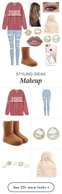 Comfy Stylish by eva-valenzuela on Polyvore featuring Topshop, UGG, GUESS, Casetify and Pippa Small