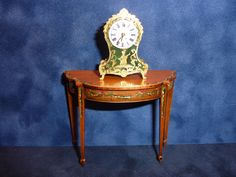 Keith Bougourd table and clock