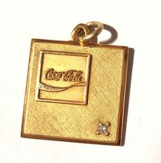 Vintage LGB Diamond 10K Yellow Gold Coca-Cola Coke Pendant Charm 7.5 G #CocaCola #Pendant