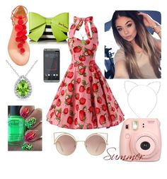 """Untitled #2"" by yuan2020-0 ❤ liked on Polyvore featuring Cara, Aquazzura, Betsey Johnson, Miadora, Allurez, INC International Concepts, Fujifilm and MANGO"