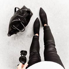 alexander wang bag - acne jensen boots - leather pants - modern lagacy
