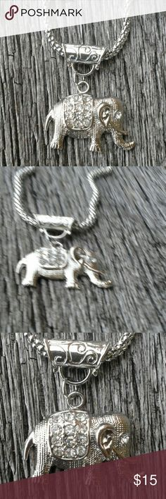 Necklace Cute elephant focal on a snake chain. Elephant is 1 1/2 x 1. Handmade Jewelry Necklaces
