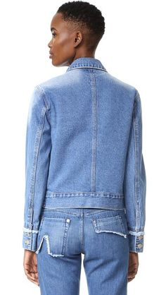 SJYP Side Cut Denim Jacket