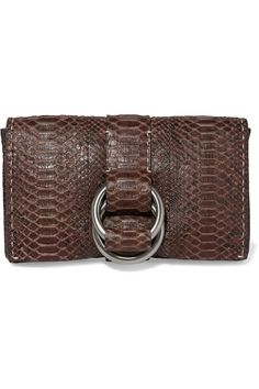 MICHAEL KORS Julie Python Clutch. #michaelkors #bags #shoulder bags #clutch…