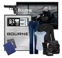 """""""Bourne Fashion"""" by anamaria-93 ❤ liked on Polyvore featuring Bourne, J Brand, AllSaints, Reiss, Forever 21, Buttero, women's clothing, women's fashion, women and female"""