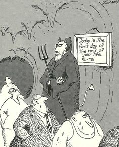"..""The Far Side"" by Gary Larson. Do I recognize some polititians there?"