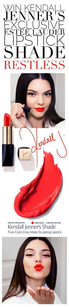 Win Kendall Jenner's Exklusive Estée Lauder Pure Color Envy Lipstick!