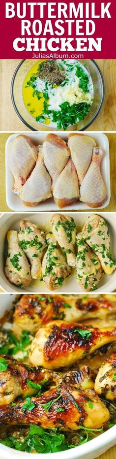 Buttermilk Roast Chicken with Garlic