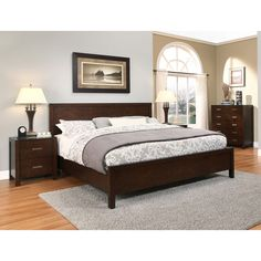 Shop for Abbyson Hamptons Queen-size Platform Bedroom Set. Get free delivery On EVERYTHING* Overstock - Your Online Furniture Shop! Get in rewards with Club O! Apartment Bedroom Decor, Bedroom Furniture Stores, Home Bedroom, Master Bedroom, Furniture Outlet, Online Furniture, Bedroom Ideas, Bedrooms, Bedroom Bed Design