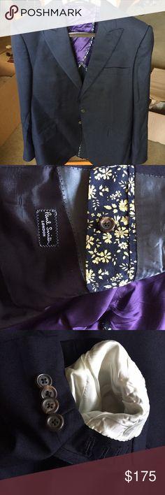 8dea75c9f0 Paul Smith wool silk Byard Navy Blazer Paul Smith 75% Virgin Wool 25