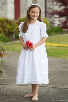 Communion Dress for Little Girls, Lace Heirloom Dress Handmade White Dresses for Little Girls Baptism White Dress LDS Strasburg Children by StrasburgChildren on Etsy https://www.etsy.com/listing/286531449/communion-dress-for-little-girls-lace