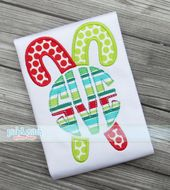Monogram Candy Canes Applique Design