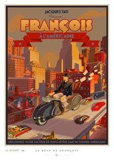 """Jacques Tati présente """"François à l'américaine"""" by Laurent Durieux"""