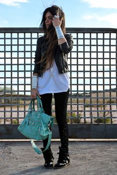 Leather-topshop-jacket-urban-outfitters-leggings-balenciaga-bag
