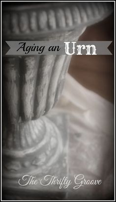 Give a thrifted plastic urn the look of aged stone ... easily!