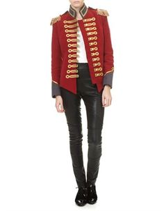 Red Military Jacket Pinky Laing