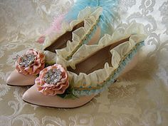 pink rose Marie Antoinette shoes