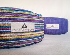 Handmade in Ireland by the Mindful Menace using deadstock upholstery fabrics and organic buckwheat hulls. Plastic Free packaging & free delivery Meditation Cushion, Meditation Space, Yoga Block, Upholstery Fabrics, Meditation Practices, My Yoga, Floor Cushions, Buckwheat, Good Night Sleep
