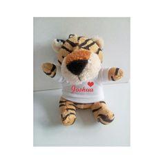 Personalised Tiger keyring, Animal keyring, Soft Toy Keyring by cjcprint on Etsy