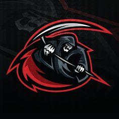 Reaper Sports Logo (Pre-Made) designed by Mike. Lightning Logo, Team Logo Design, Esports Logo, Design Art, Graphic Design, Creative Design, Art Diy, Skull Logo, Great Logos