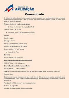 Folha do Sul - Blog do Paulão no ar desde 15/4/2012: TRÊS CORAÇÕES: COLÉGIO DE APLICAÇÃO - COMUNICADO -...