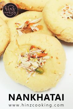 Nankhatai Recipe - 4 Ingredients Nankhatai Biscuit Without Oven Indian Desserts, Indian Food Recipes, Eid Recipes, Vegan Recipes, Dessert Recipes, Cooking Recipes, Delicious Recipes, Recipe Steps, Recipe For 4