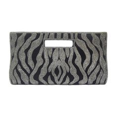 Shehnai Handmade Clutch in Black & Grey - SVEB0002 - Clutches by Shop Vcommerce-Bags-Shop Vcommerce