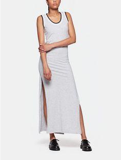 Lange jurk grijs gemêleerd - The Sting