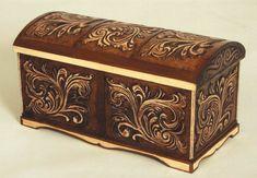 carved wooden box by EdwardWoodART
