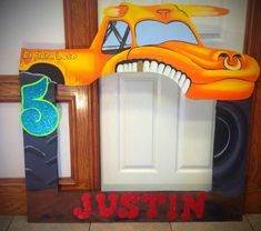 El Toro Loco, Monster Jam, Monster Trucks photo frame prop for pictures with guest's