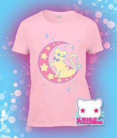 """""""Embark on a magical journey through the misty and moonlit night with this clever kitty as your guide. Make sure to bring lots of treats!"""" Ahaha, the actual description of this shirt. Awesome."""