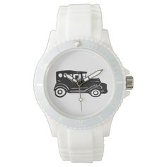 Rubber Stamp, Old Car And Driver Watch
