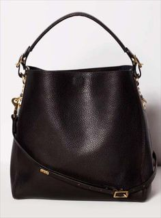 Young British Designers - Black Stamped Leather Bucket Bag by Sophie Hulme / Accessories / Bags