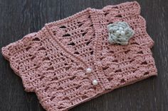 """Crochet Pattern Girls Bolero Pattern, Pearl Flower, """"paige bolero pattern"""" by Inventorium on Etsy https://www.etsy.com/listing/180810184/crochet-pattern-girls-bolero-pattern"""