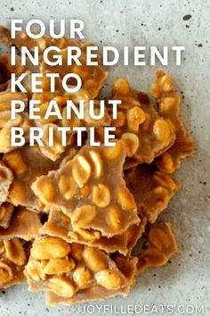 Crunchy and delicious Keto Peanut Brittle is the dessert you need for all your holiday get-togethers. You won't find an easier or more scrumptious peanut brittle recipe. Imagine eating your favorite festive treat, and it also happens to be low-carb, keto, gluten-free, and grain-free. Low Carb Desserts, Diet Desserts, Low Carb Sweets, Keto Snacks, Sugar Free Desserts, Gluten Free Desserts, Bariatric Recipes, Ketogenic Recipes, Low Carb Recipes