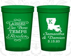 Custom Stadium Cups, Personalized Cups, Wedding Cups, Personalized Plastic Cups, Stadium Cups, Party Cups, Plastic Cups (398)