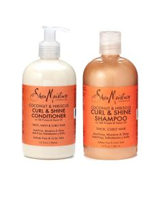 Coconut & Hibiscus Curl & Shine Conditioner and Shampoo