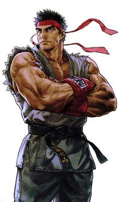 Ryu (Street Fighter/by: Ug Ugg) Street Fighter 2, Street Fighter Tekken, Street Fighter Characters, Street Fighter Wallpaper, Manga Japan, World Of Warriors, Street Fights, King Of Fighters, Fighting Games