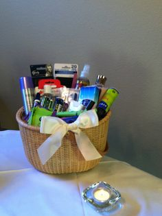 Nantucket Wedding Bathroom Baskets  Set by AngelfishWeddings on Etsy, $150.00