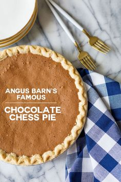 Angus Barn Chocolate Chess Pie