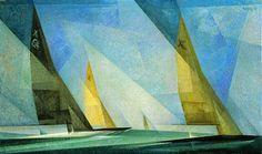 Sailboats, Lyonel Feininger, 1929. Oil on canvas. 43.2 x 72.4 cm. Detroit Institute of Arts, Detroit.