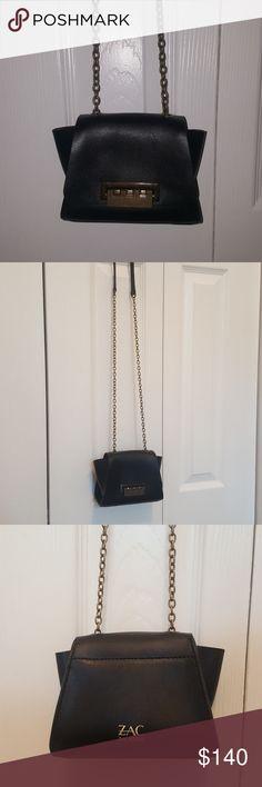 "Zac Posen Mini Crossbody Bag Small Zac Posen Crossbody bag. Worn once.  Body length 6"", height 5"", width 3"", strap drop 24"" Zac Posen Bags Crossbody Bags"