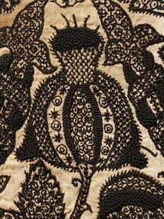 England, Great Britain (embroidered) Date: 1575-1585 (made) Artist/Maker: Unknown (production) Materials and Techniques: Embroidered linen with silk V & A Museum