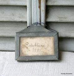 RESERVED Five Antique Zinc Wine Cellar Tags by SundayBrocantes